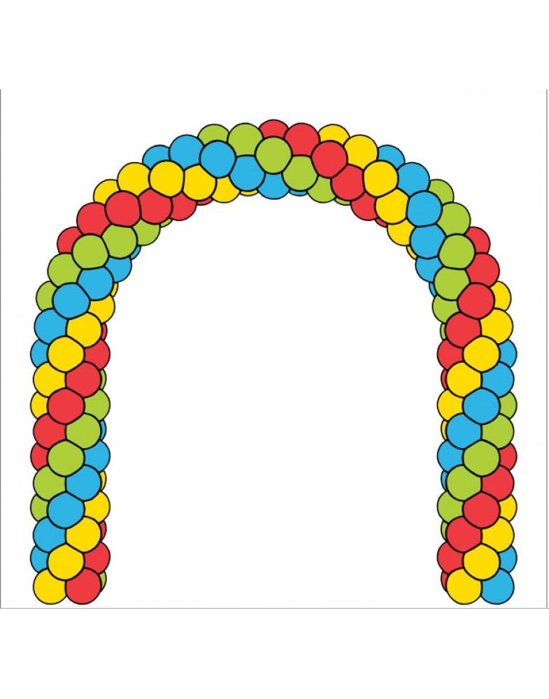 Яркая арка на каркасе