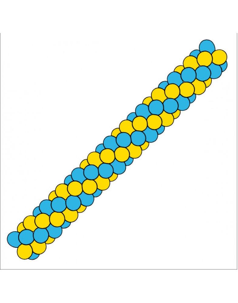 Гирлянда разноцветная спираль