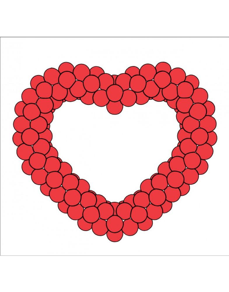Сердце на каркасе