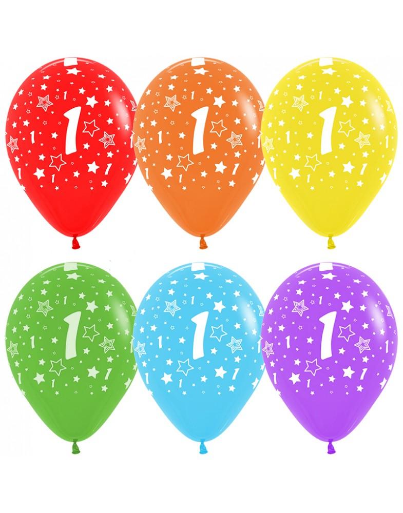 Воздушные шары с цифрой 1