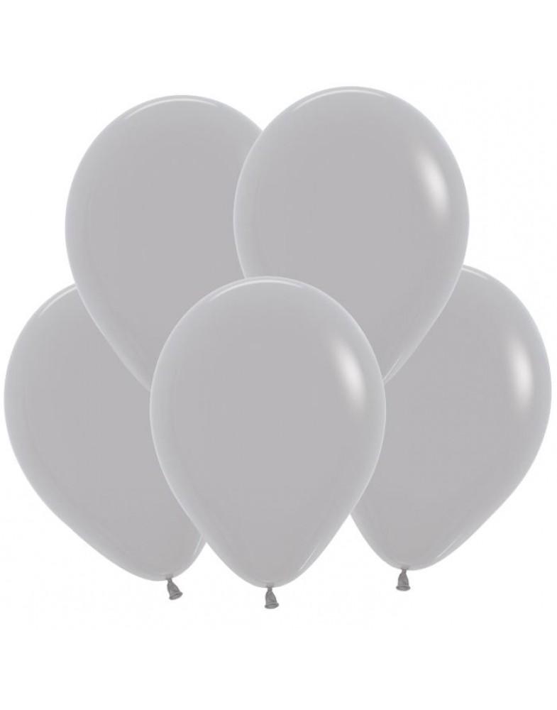 Воздушные шары серые