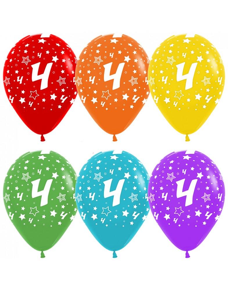 Воздушные шары с цифрой 4
