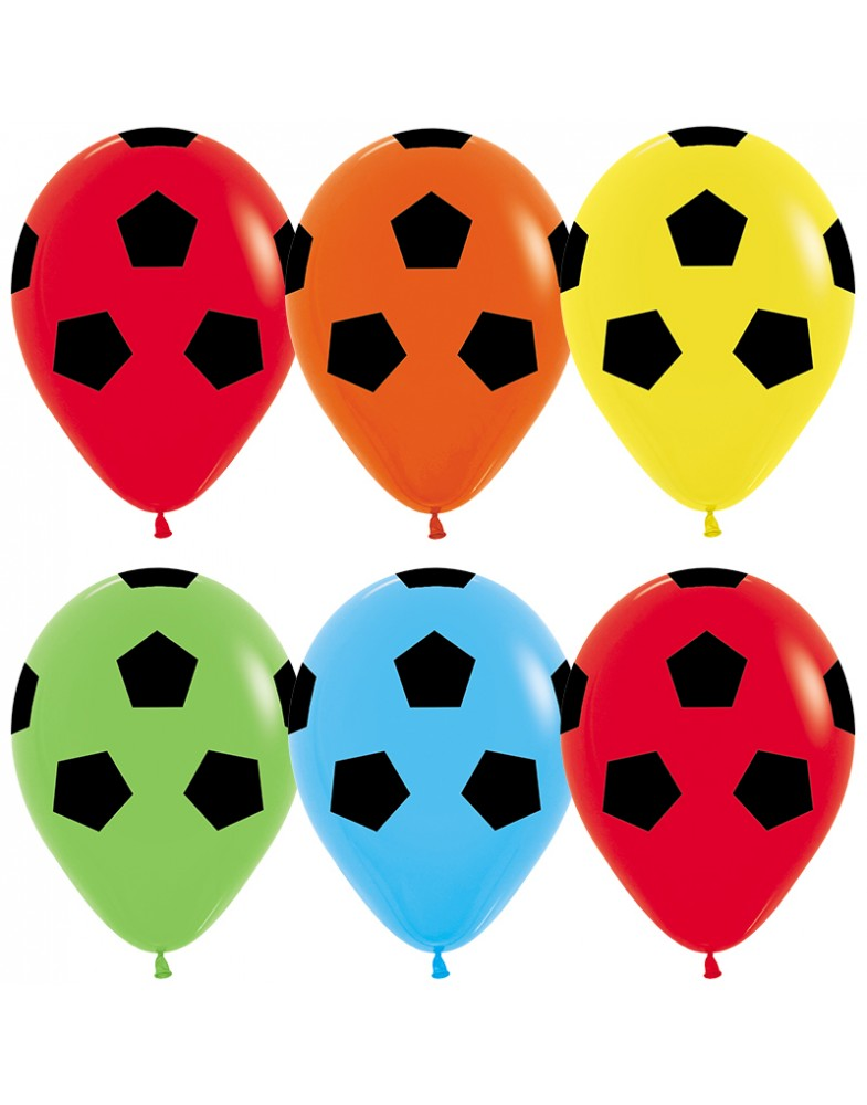 """Воздушные шары """" Футбольный мяч.Ассорти"""""""