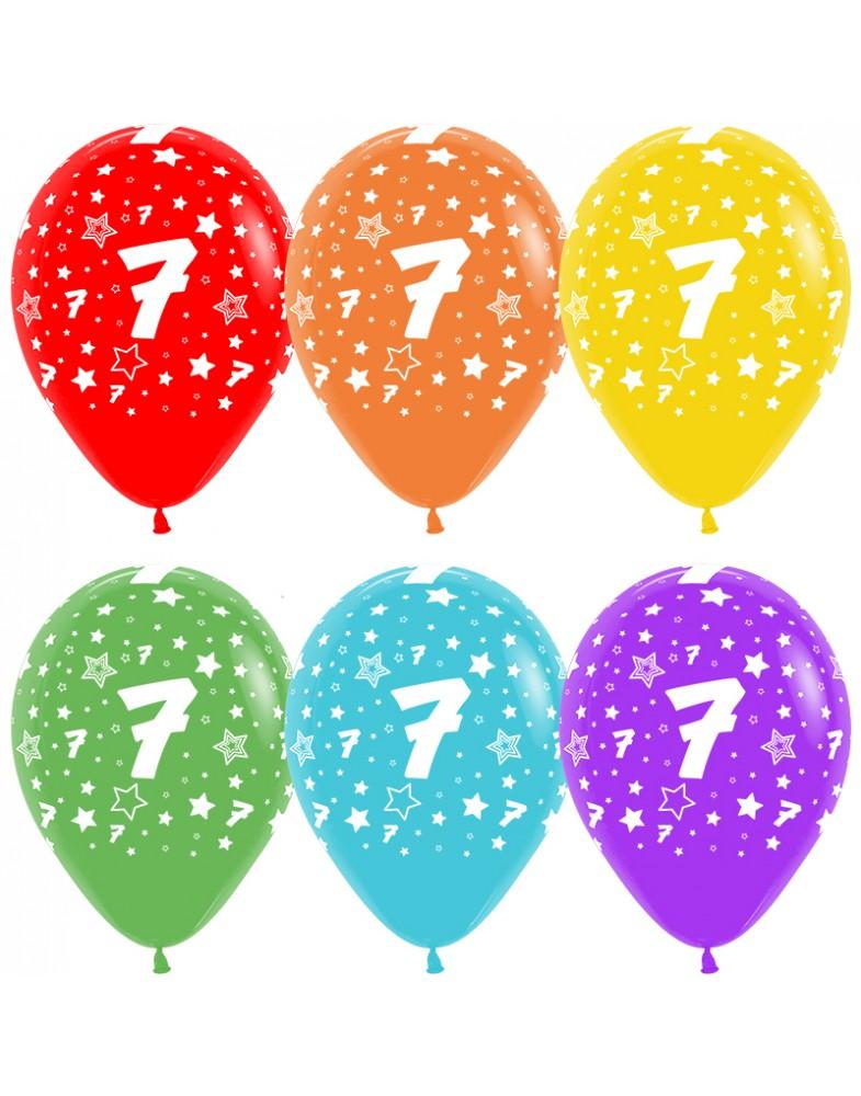 Воздушные шары с цифрой 7