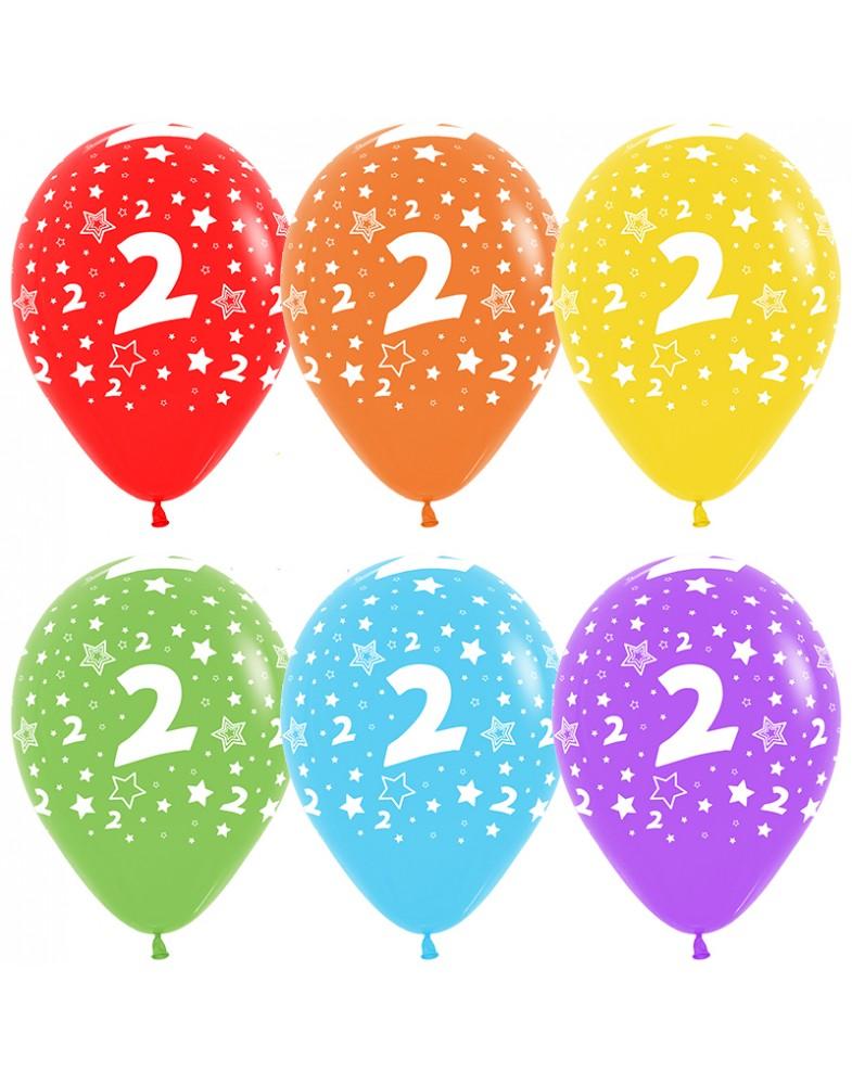 Воздушные шары с цифрой 2