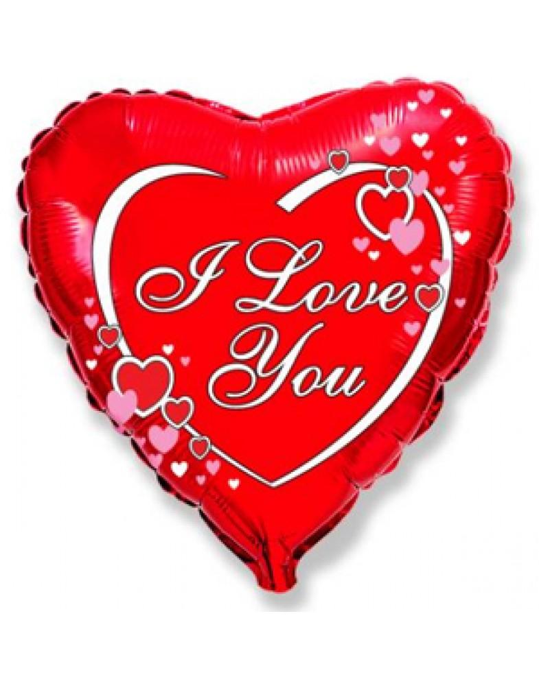 """Фольгированное сердце """" I love you"""""""
