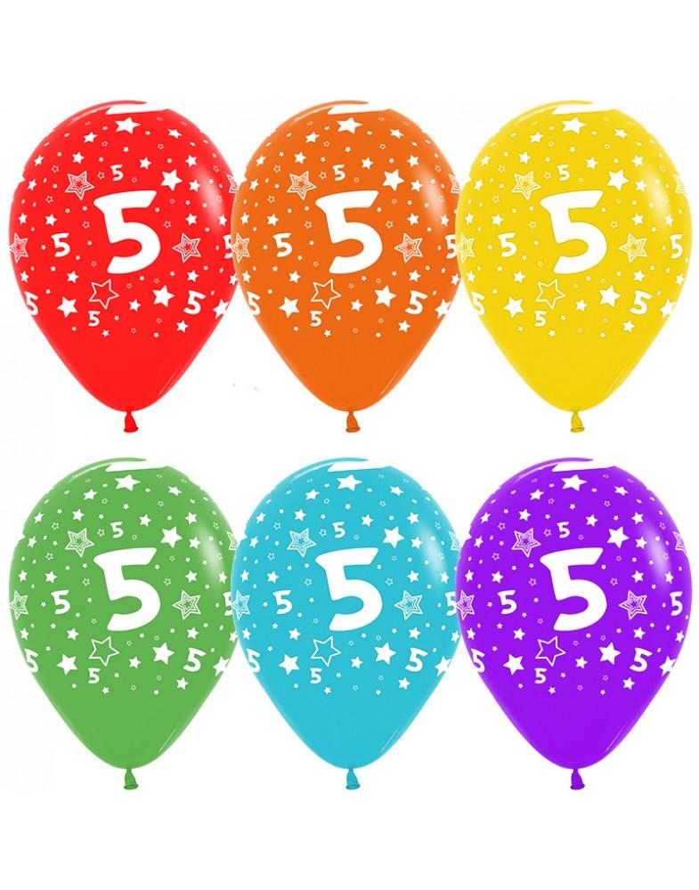 Воздушные шары с цифрой 5