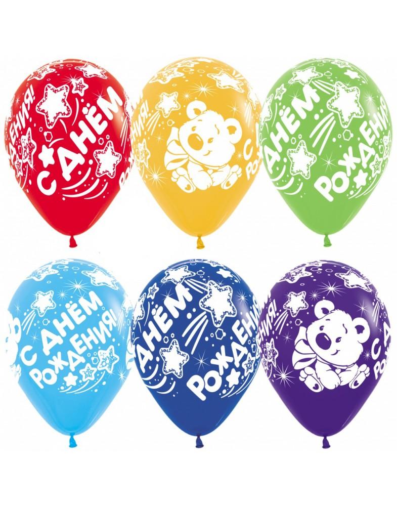 """Воздушные шары """"С Днем Рождения"""" (мишка)"""