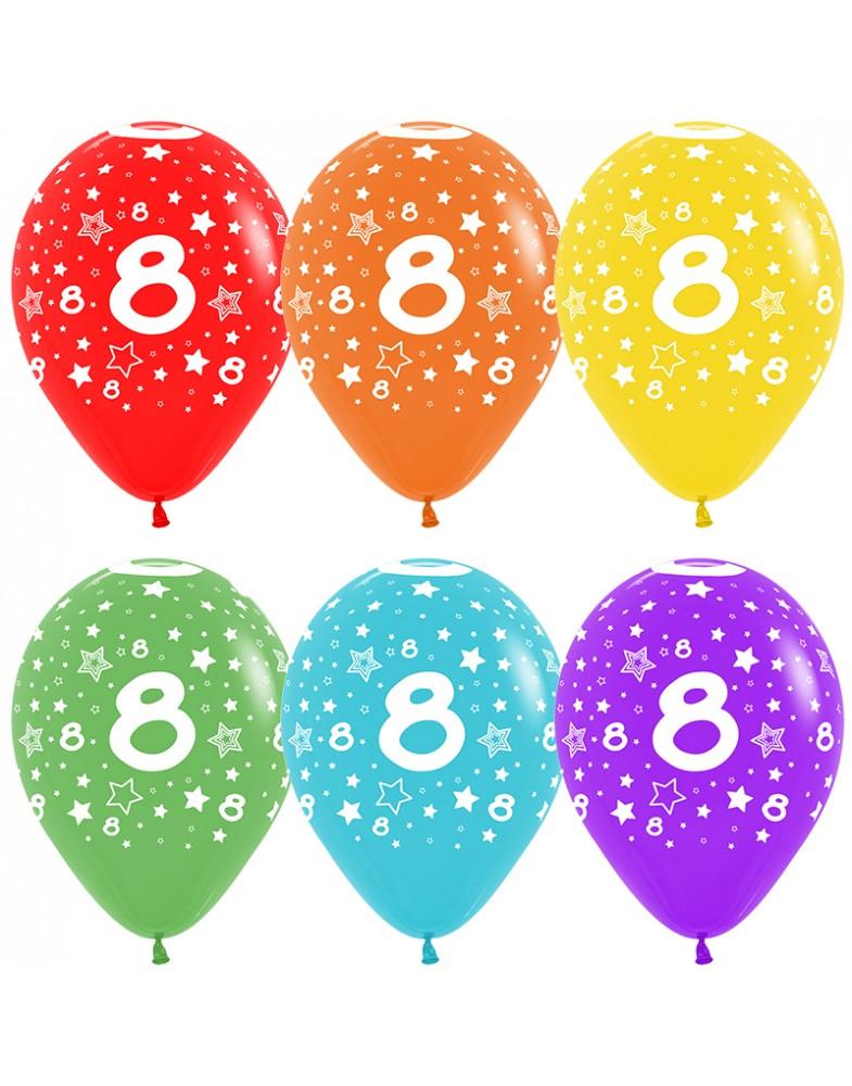 Воздушные шары с цифрой 8