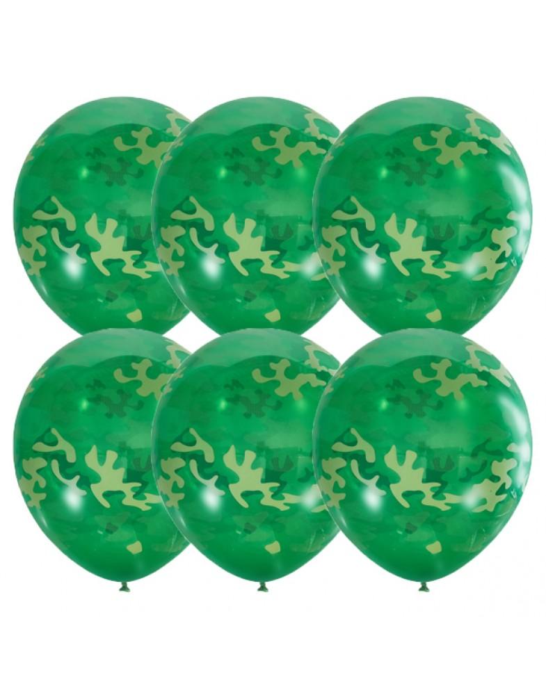 """Воздушные шары """"Милитари"""" (зеленые)"""