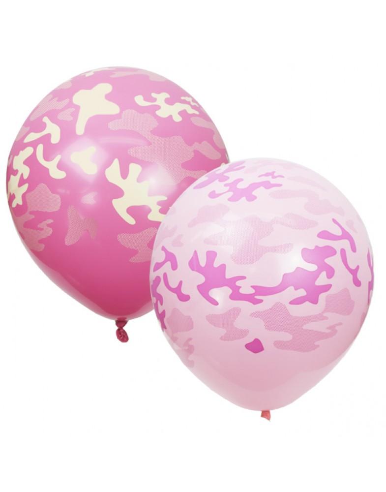 """Воздушные шары """"Милитари"""" (розовые)"""