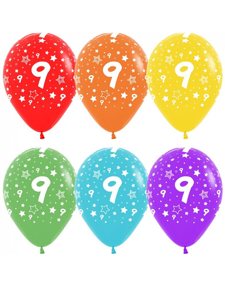 Воздушные шары с цифрой 9