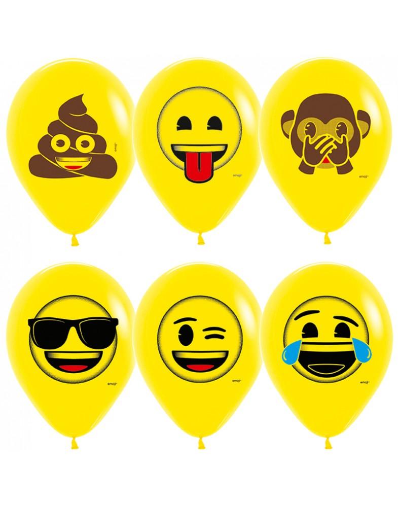 """Воздушные шары """"Смайлы Эмоции"""" (Озорные)"""