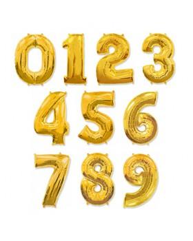 Фольгированная цифра Золото