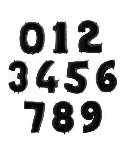 Фольгированная цифра Черная