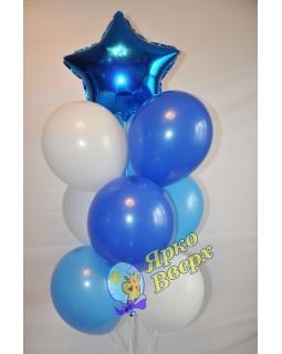 Бело-голубой фонтан со звездой