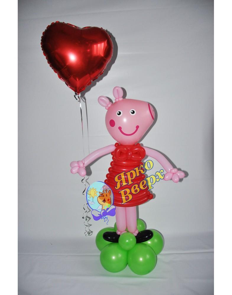 "Фигура из шаров ""Свинка"""