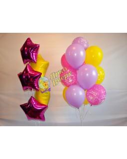 Желто-розовый сет с фольгой