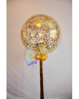 Большой шар с конфетти и дождиком