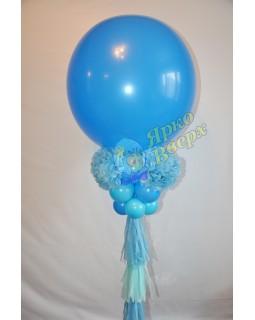 Большой шар с бумажным декором