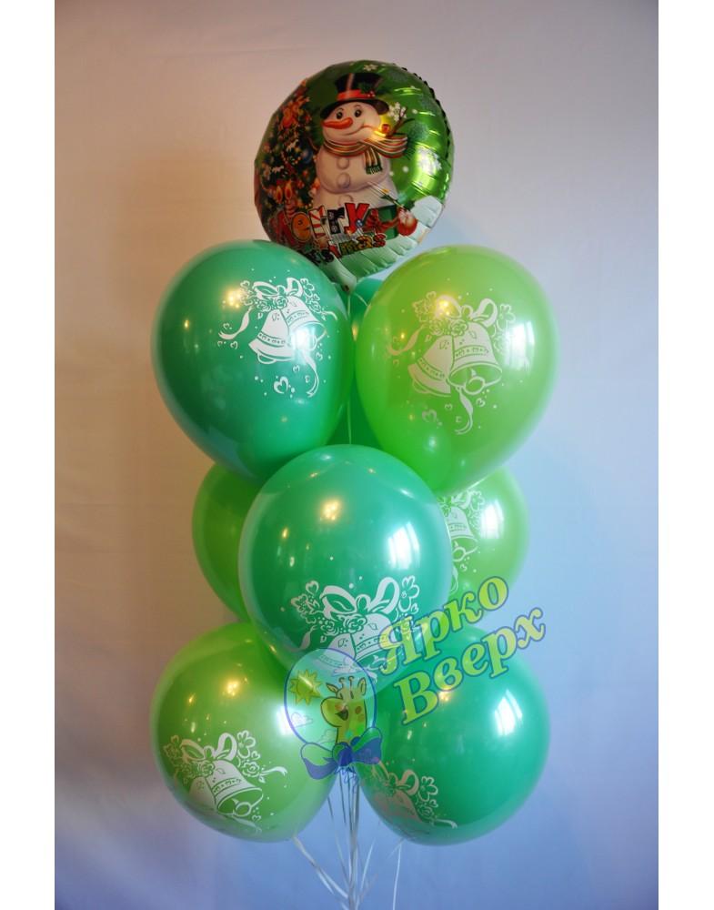 Фонтан зеленый с колокольчиками