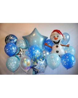 Новогодняя голубая стена