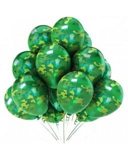 Воздушные шары защитного цвета в связке