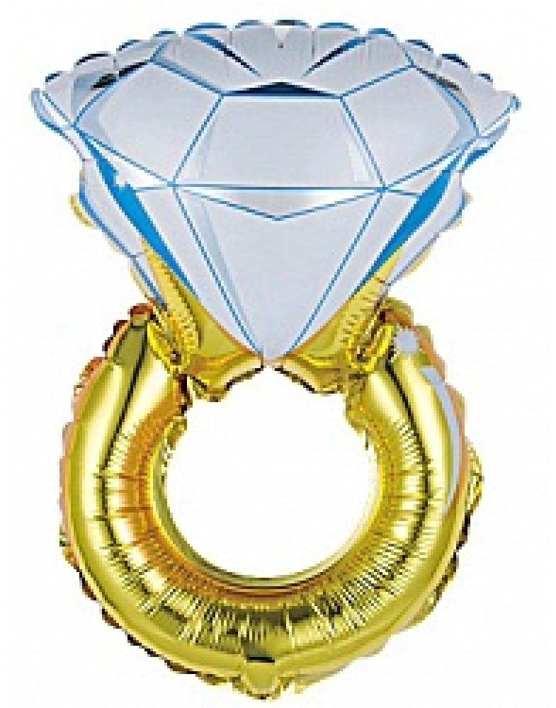 """Фольгированный шар """"Кольцо с бриллиантом"""""""