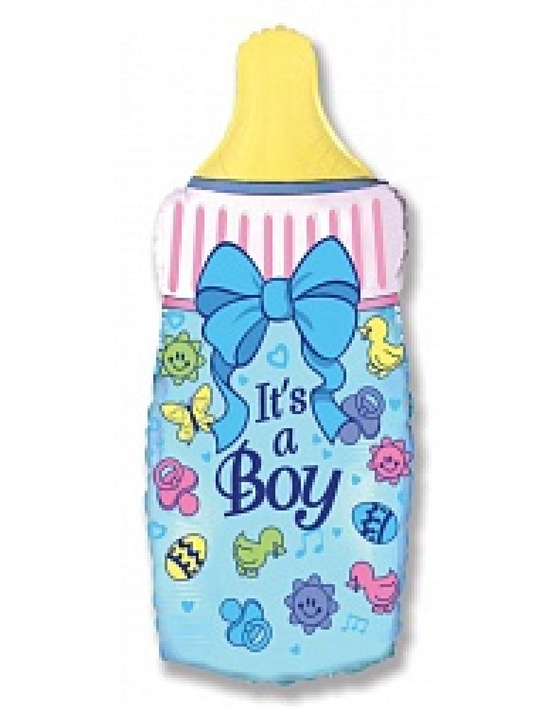 """Фольгированный шар """"Бутылочка для мальчика"""""""