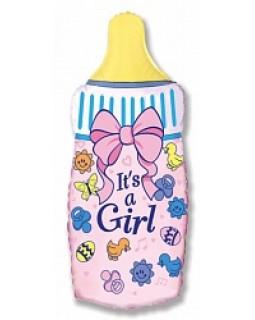 """Фигурный шар """"Бутылочка для девочки"""""""