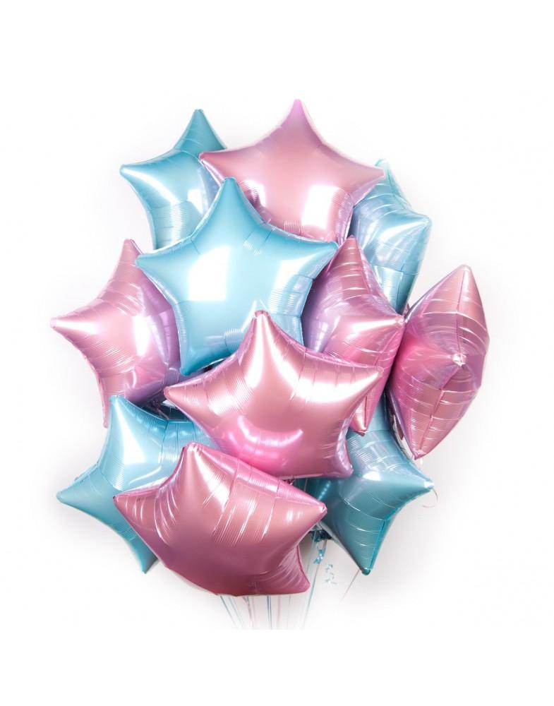 Связка розово-голубых звезд