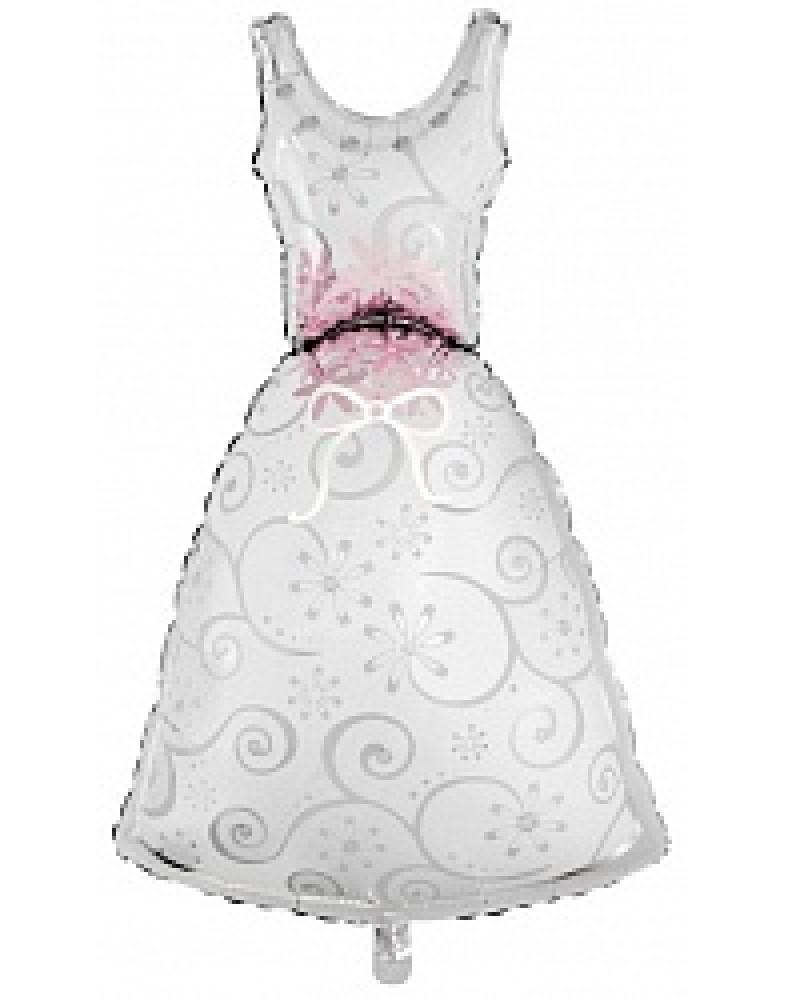 "Фигурный шар ""Платье невесты"""