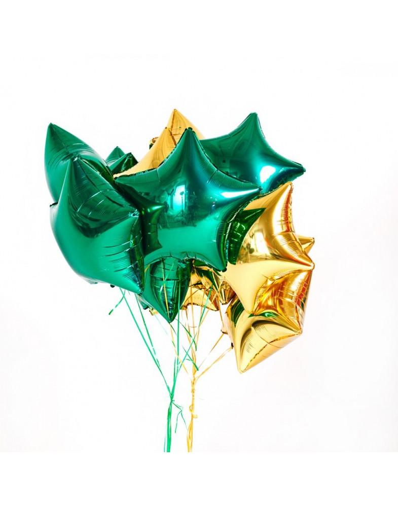 Связка звезд зеленый-золото