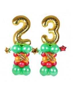 Цифры праздничные с истребителями