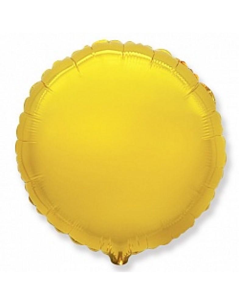 Фольгированный круг 45 см золото