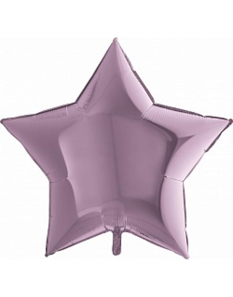 Фольгированная звезда 90 см сиреневая
