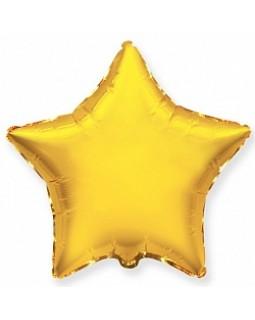 Фольгированная звезда 80 см золото