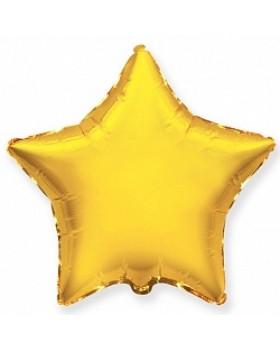 Фольгированная звезда 45 см золото