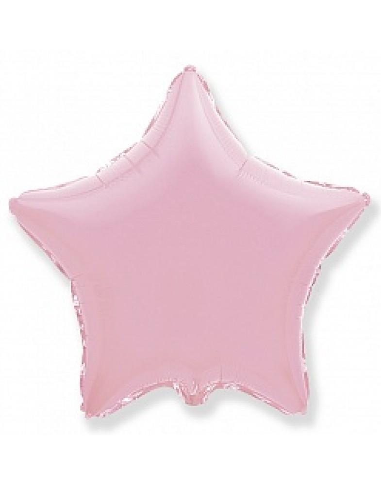 Фольгированная звезда 80 см розовая