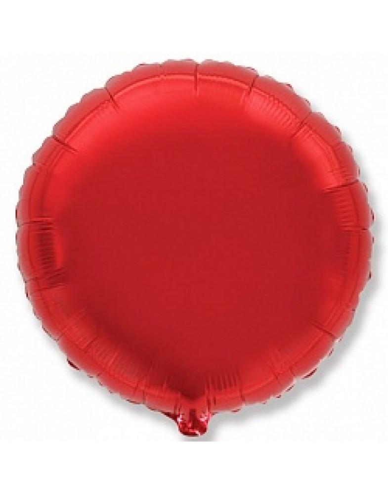 Фольгированный круг 45 см красный
