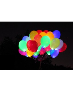 Связка светящихся шаров ассорти
