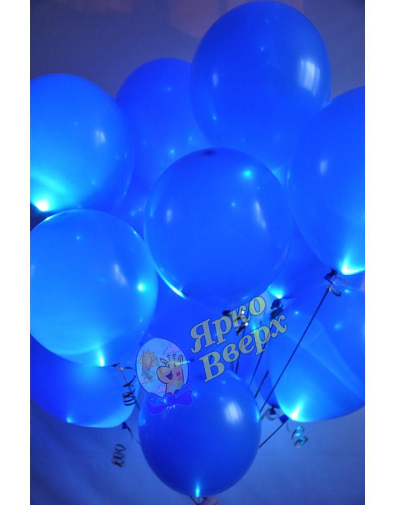 Связка синих светящихся шаров