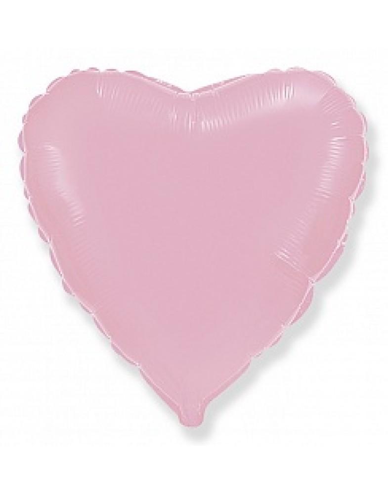 Фольгированное сердце 80 см розовое