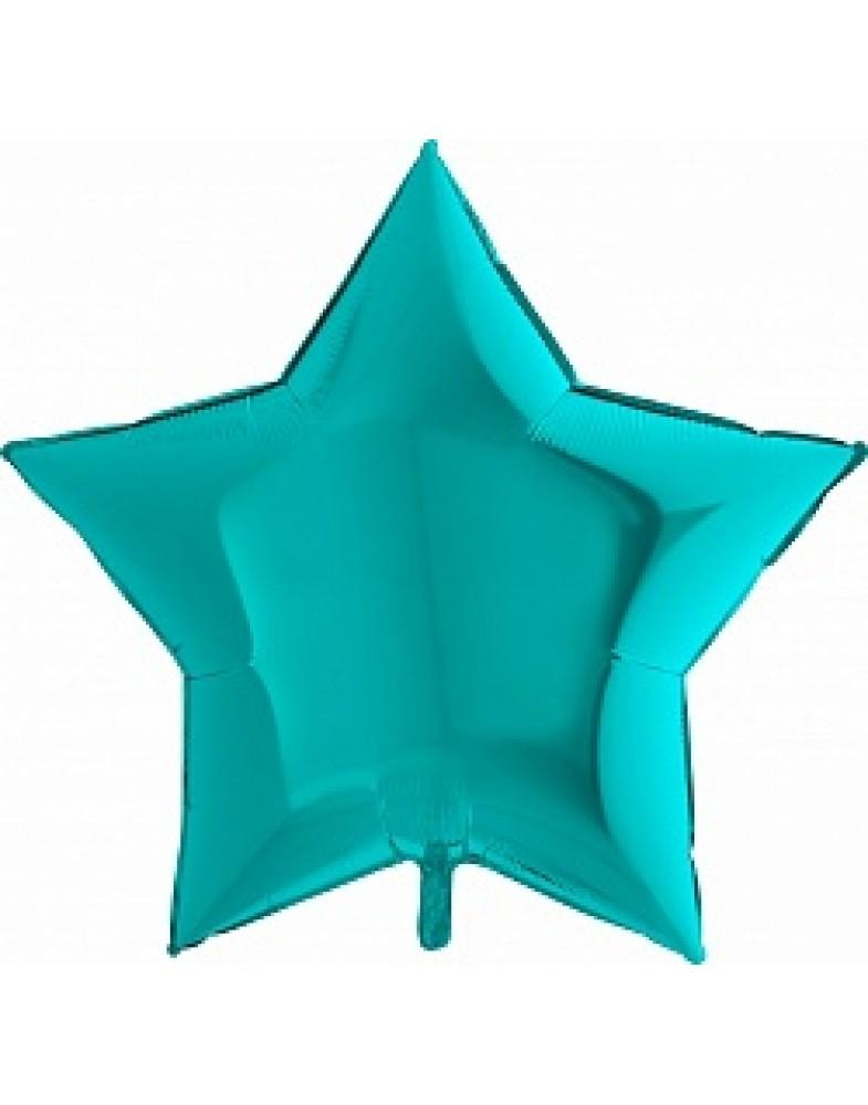 Фольгированная звезда 90 см тиффани