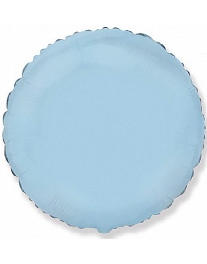 Фольгированный круг 45 см голубой