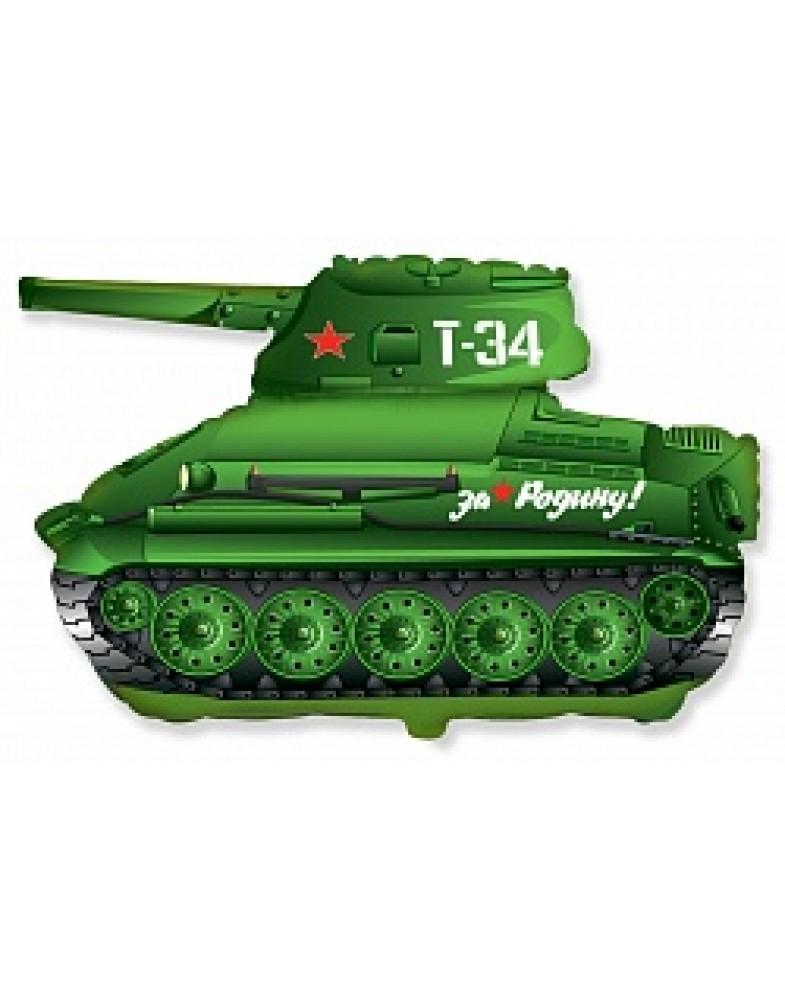 """Фигурный шар """"Танк Т-34"""""""