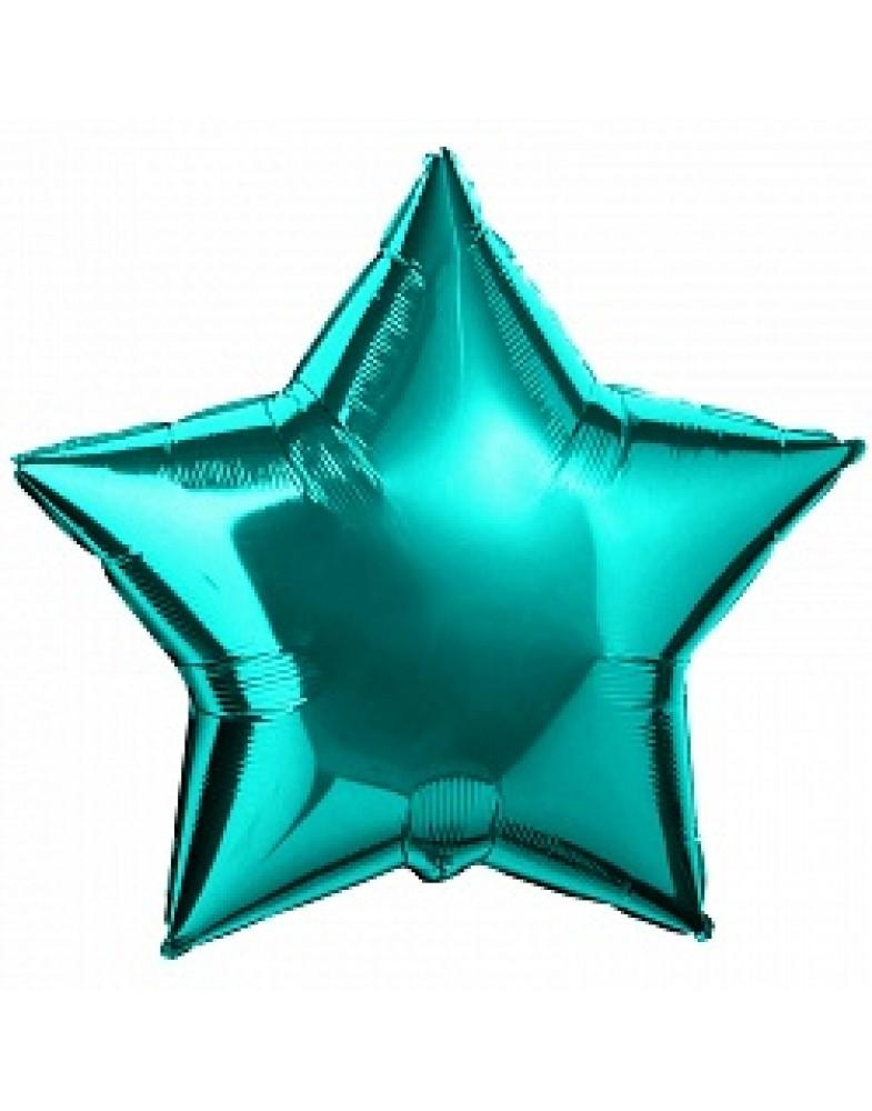 Фольгированная звезда 45 см тиффани