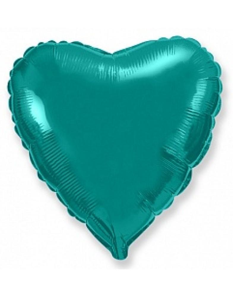 Фольгированное сердце 45 см тиффани