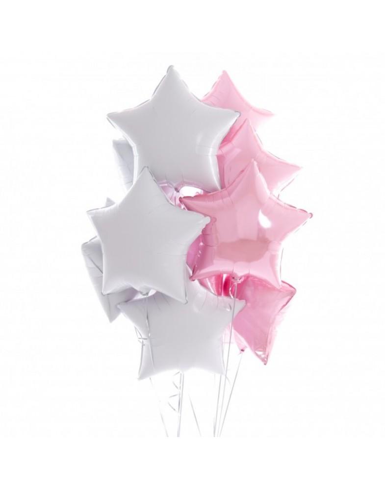 Связка бело-розовых звезд