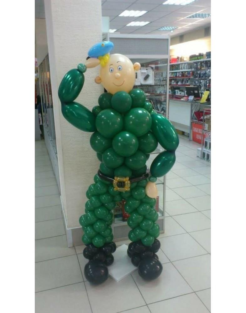 """Фигура из шаров """"Воздушные войска"""""""